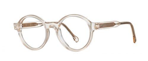 lunettes vinylize rondes et blanches