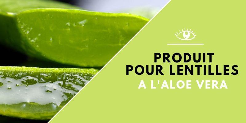 Produit pour lentilles aloe vera