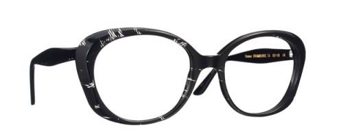 lunettes caroline abram noir et blanc